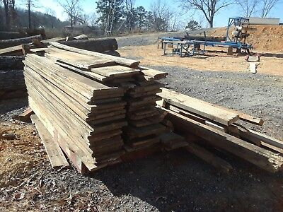 Antique Reclaimed Barn Wood 1in×12in×9ft Interior Heart Pine! 52 total 468 sbf!