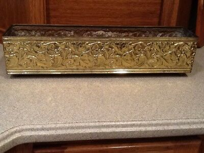 Vintage Solid Brass Art Deco Mid Century Planter Box - Irving Schwartz & Co. 18""