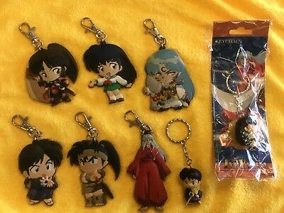 Inuyasha lot of 8 Keychains 1 new in package 7 in excellent condition