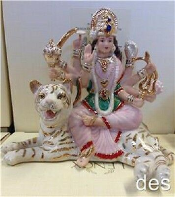 Lenox ~ DURGA GODDESS of STRENGTH Hindu Battle Queen on White Tiger NEW in BOX