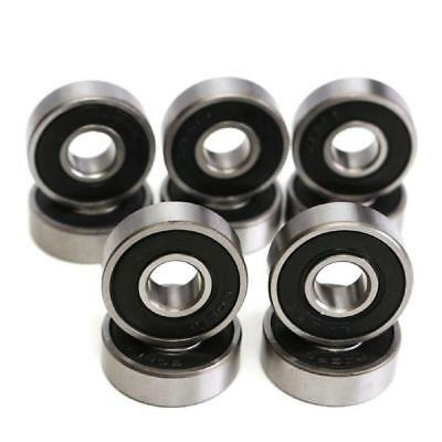 10 Roulements 608 2RS - Skateboard roller trottinette 608rs2 608-2rs 608zz Abec
