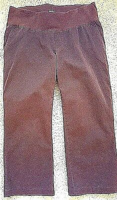 Duo Maternity Brown Belly Band Capris Pants Shorts Small S