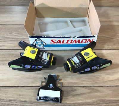 Vintage 80's Salomon 857 Ski Bindings Replacement Parts Multicontrol Made France