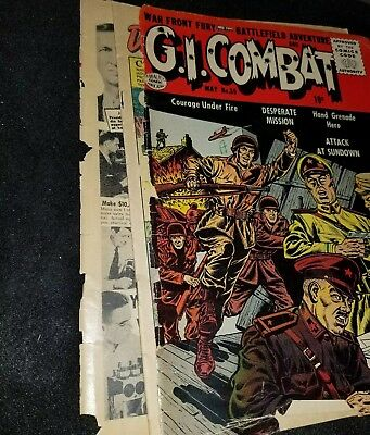 G.I. COMBAT comics #36 post-code War scarce QUALITY battle story our army at war