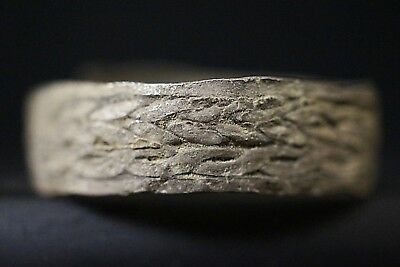 Ancient Viking Hammered Silver Finger Ring, c 950-1000 AD. Rare Norse Artifact