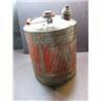 Antique Barn Aged Color Red Ribbed 3 Gallon Kerosene Gas & Oil Can