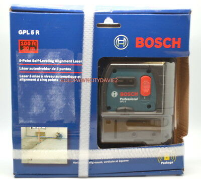 Bosch GPL 5 R - 5 Point Self-Leveling Alignment Laser FAST FREE SHIPPING NEW