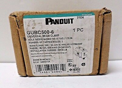 Panduit GUBC500-6 Universal Beam Grounding Clamp for #6 AWG – 500 kcmil NOS**