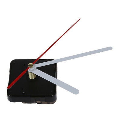 Clock Movement White Hour Minute Red Second Hand DIY Tools Kit E7X4