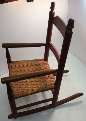 "Antique Child Size Doll Rocking Chair 23"" Tall X 20"" Deep X 14"" Wide"