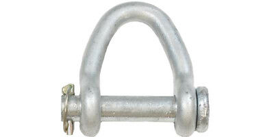 "2-PACK 2"" Web Shackle Hot Dip Galv. Round Pin Lifting Sling"