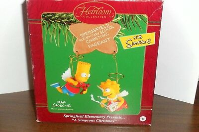 The Simpsons Ornament Bart & Lisa Holiday Christmas Pageant Carlton Cards 2002