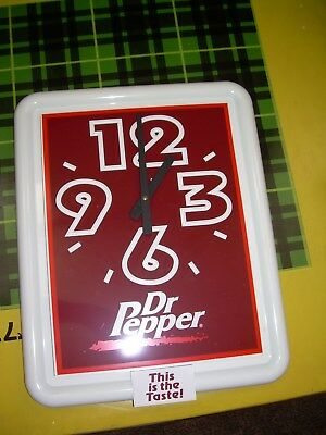 Dr. Pepper Clock With Box New Condition Howard Company Works Dated July 19 1999