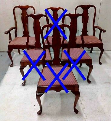 Pennsylvania House Solid Cherry Set of 6 Queen Anne Dining Chairs