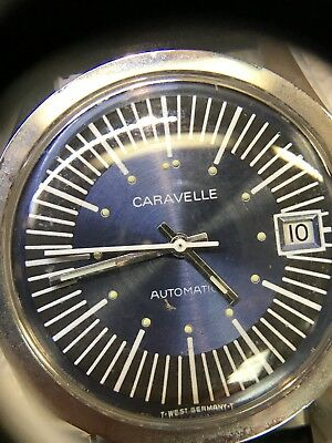 Vintage Caravelle Automatic Men's Watch Date new old stock. 17 j