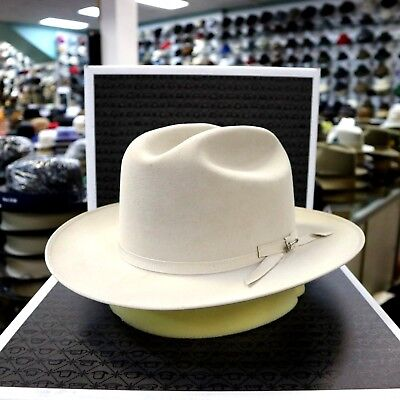 7142ca79907 STETSON OPEN ROAD Silverbelly Royal Deluxe Fur Felt Dress Hat ...