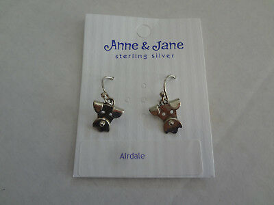 Airedale Terrier Dog  Earrings Jewelry Sterling Silver Handmade Dog Earrings