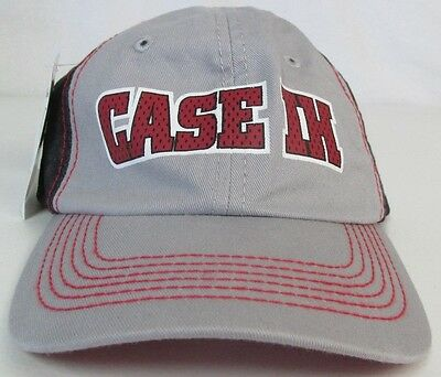 NEW! CASE IH Tractor Agriculture Farm Youth Gray Trucker Hat Ball Cap Adjustable