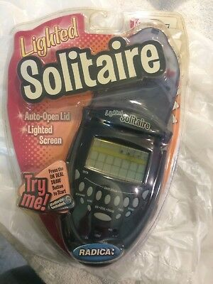 Radica Lighted Solitaire Flip Top Lid Klondike Vegas Model 74014 NEW in Package