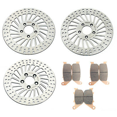 11.5'' Front & Rear Harley Brake Discs Rotors Pads for Sportster 883 1200 XL R