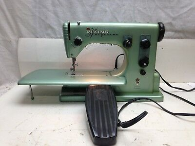 Vintage Viking Husqvarna  Sewing Machine Type 21E With Foot Pedal