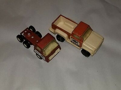 "Vintage TONKA  6"" two TONE toy PICKUP and Cab Over Trucks WOW Mustangs"