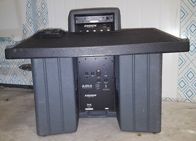 ENSIGN TL-2B Portable Tabletop Podium Lectern w/ Sound System; Battery Powered