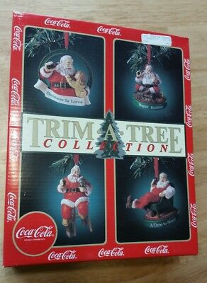 coca cola christmas ornaments trim a tree collection pack of 4