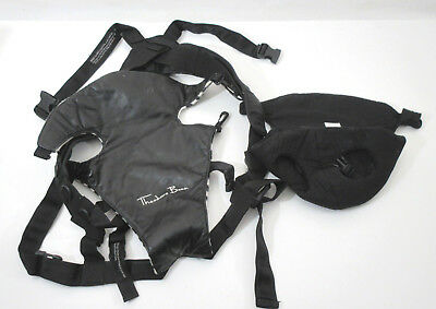 3419c8356a8 Used Theodore Bean Baby Carrier Sling Black Leather Zebra Pattern Lining