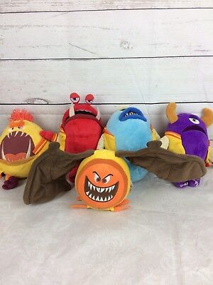 Lot of 5 Disney Store Monsters Inc. Pixar Plush JOX Set DIRK BABOSO OMOR