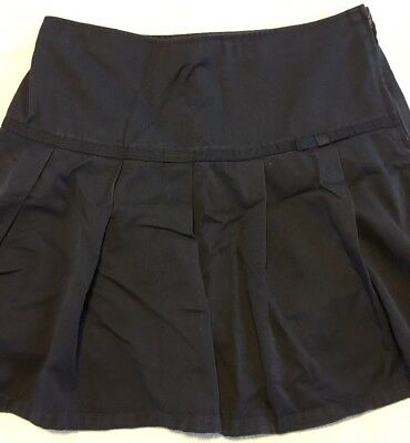 French Toast Brand Girls Navy Blue Uniform Skirt, With Built-in Shorts. Size 20.