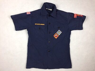 Official Boy Scouts Of America Youth Medium Scout Shirt Blue Uniform