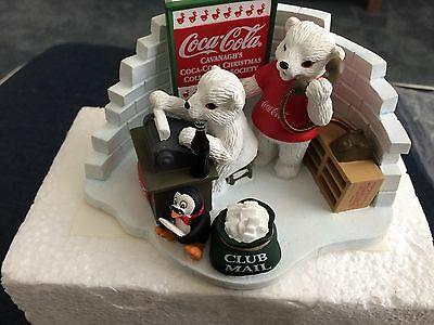 Coca-Cola Porcelain Figurine Hearing From You