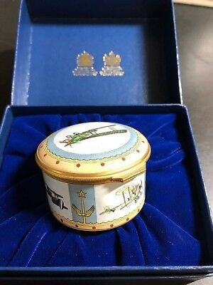 1987 Halcyon Days Enamel Box:75th Anniversary of the Royal Flying Corps.Only 250