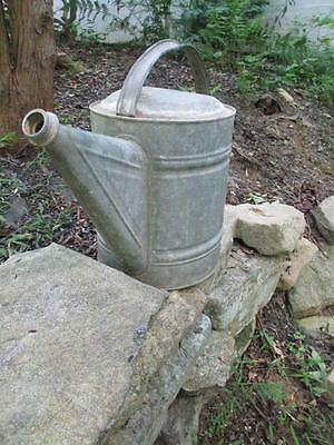Vintage  2 Gal Country Decor Metal 12 Qt. Galvanized Steel Garden Watering Can