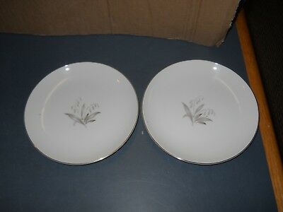 "Vintage Lot Of 2 Kaysons Fine China Saucers 6 1/2""  Golden Rhapsody 1961 Japan"