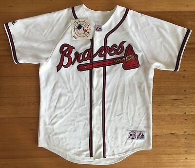 Atlanta Braves Majestic MLB Replica Baseball Jersey - White *New with Tags* L