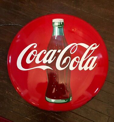"Coca Cola Button 24"" Porcelain Sign"