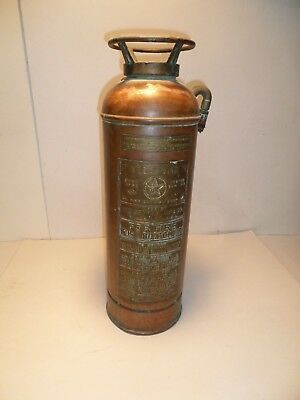 Vintage Antique  Floafome Copper  Fire Extinguisher The General Mfg Co St. Louis