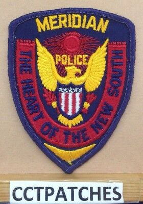 "Meridian, Mississippi Police ""the Heart Of The New South"" Shoulder Patch Ms"