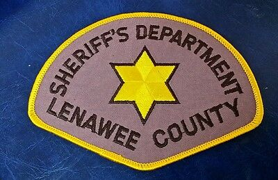 Lenawee County, Michigan Sheriff (Police) Shoulder Patch Mi 2