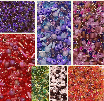 New 40000Pcs 21 Colors Czech Glass Seed Spacer Beads Jewelry Making 2mm