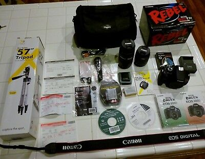 NEW Canon EOS Rebel T3i / EOS 18.0MP Digital SLR COMPLETE Camera BUNDLE Kit