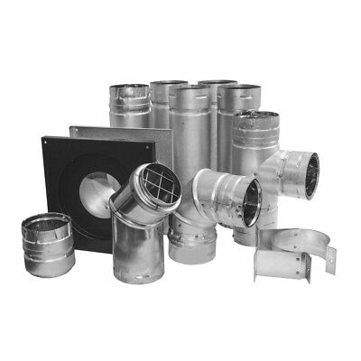 "Simpson Duravent M&G  3"" Pellet Chimney Exhaust Vent Kit, 3PVL-KHA, KIT 3000"