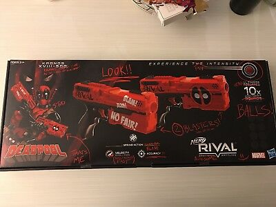 Nerf Rival DEADPOOL KRONOS XVIII-500 Dual Pack Red NEW 2017 14+ Marvel IN HAND