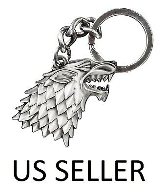 Game of Thrones House Stark Metal Keychain Key King - USA Seller 1-3 day shippin