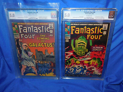 Fantastic Four #48 & 49 CGC 5.0 1st Appearance Of Silver Surfer & Galactus 1966