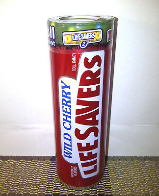1 Life Savers Wild Cherry Metal Tin Collectible w/6 Candy Rolls. Exp. 4/19/18