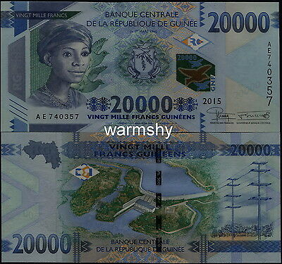 Guinea Guinee 2015 Banknotes 20000 20 000 France UNC