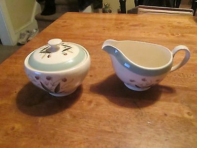 Alfred Meakin Hedgerow Pottery England CREAMER AND SUGAR